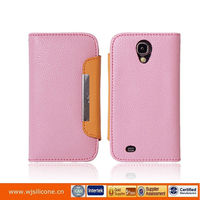 pu leather wallet flip stand hard case for iphone 5