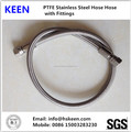 PTFE teflon stainless steel 316 braided hose for O2 Cyliner 1/2'' with JIC fittings