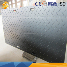 CE Certification Free sample available Non-slip HDPE plastic ground protection large plastic floor mat made in China