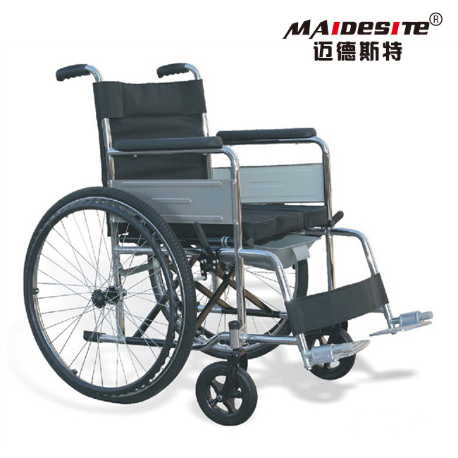 High duty cheapest lightweight wheelchair with toilet