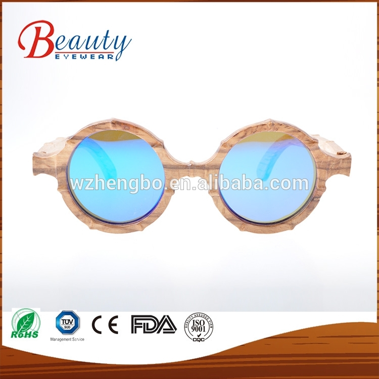 Oculos De Sol Feminino Bamboo With Golden Plated Mental Sunglasses