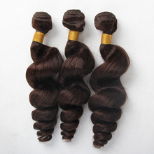 the best hair vendors wholesale peruvian virgin hair Color #2 loose wave hair extension