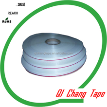 13/6mm 1000mts red or white line on the PE strip plastic bag sealing adhesive tape