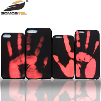2017 Temperature sense free sample color changed mobile phone case for iphone 7