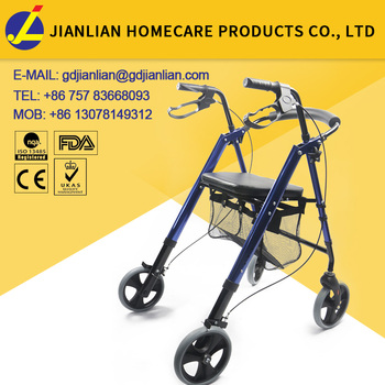 folding rolling aluminium rollator shopping cart
