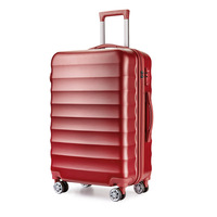 abs printed black hard shell luggage/travel case/wheel luggage