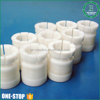Custom engineering plastic bearing sleeve delrin acetal polyacetal cnc machining parts pom bushing