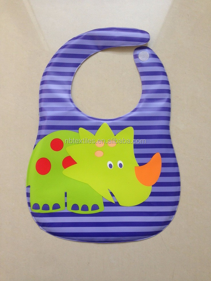 Waterproof PEVA bib with velcro closure