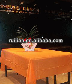 Elegant disposable plastic table cover