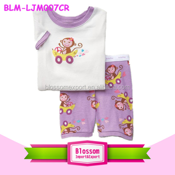 2016 New stylish fashion baby animal pajamas clothing casual cotton cartoon lovely pajamas wholesale girl new born sleeping wear