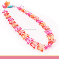 Beautiful Baby Girl's Fashion Jewelry Butterfly Clear Beads Necklace