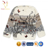 Winter handmade knit wool sweater designs knitwear for Women