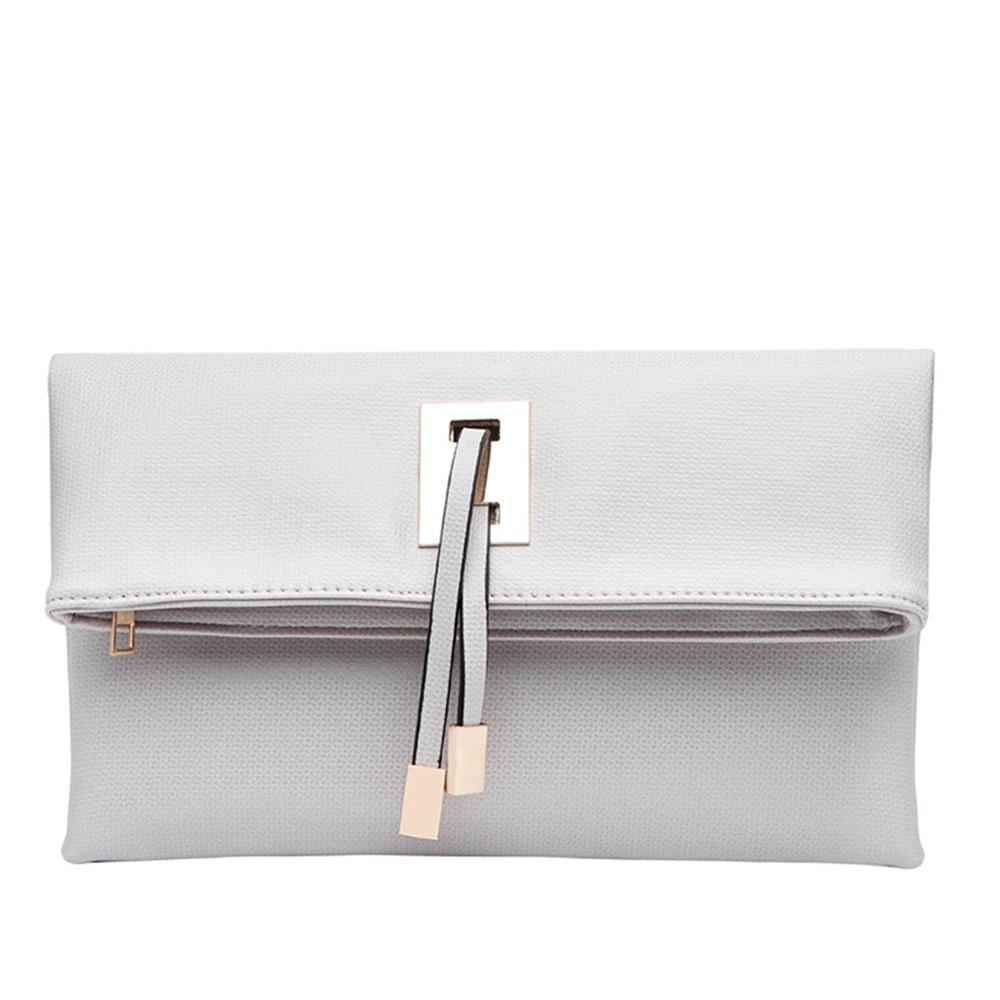 China Wholesale Custom Logo PU Leather Women Purse Ladies Clutch Bag Evening