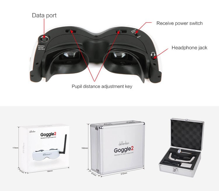 In Store vr goggles drones with hd camera and gps and wifi camera 1080P HD FPV goggles for drone Phantom