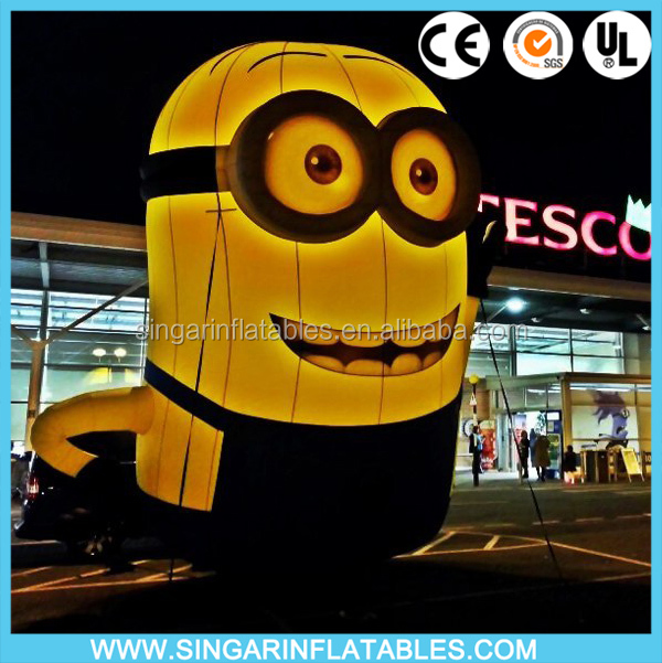 Custom commercial inflatable advertising cartoon minions,inflatable character