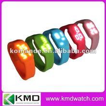 Wristband LED usb pen drive watch show capacity/ battery /time/ date