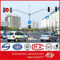 Traffic and Telescopic cctv Camera Monitor Mast Steel Pole