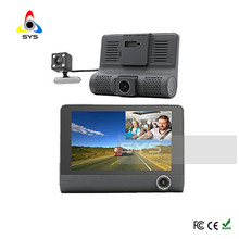 3 Lens 4 inch LCD Screen Full HD 1080 Built-in Wifi Car Camera DVR RecorderCar Dash Cam Full HD with 180 Degree Rear View