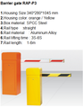 Factory price road gate in car park Traffic barrier gate with retractable 1-6m arm
