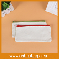 High Quality Canvas Blank Pencil Case with Your Logo