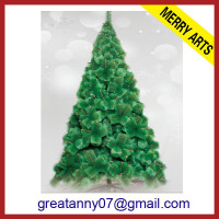 2013 wholesale new style Green artifical optical fiber christmas tree balls for sale
