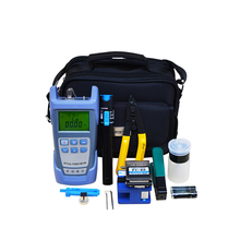 FTTH Fiber Optic Tool Box with Optical Power Meter and VFL and Fiber Cleaver for FTTH Drop Cable