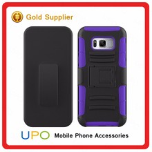 [UPO] 3 in 1 Belt Clip Holster Defender Full Cover Shockproof Silicon PC Phone Case For Samsung Galaxy S8