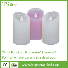 Hot sale wick pillar paraffin wax candle led light
