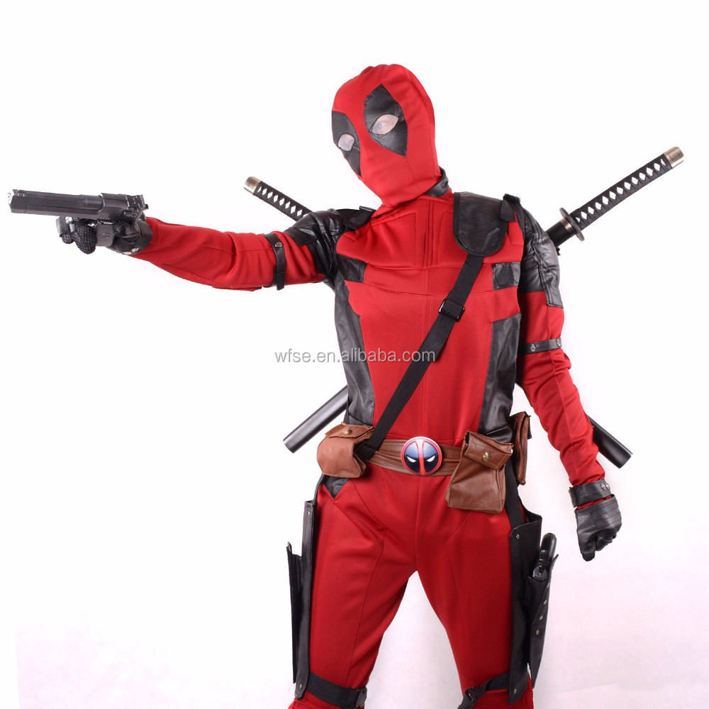 Hot Selling China Tv & Movie Deadpool Costume/Cosplay Costume/Deadpool Costume Factory