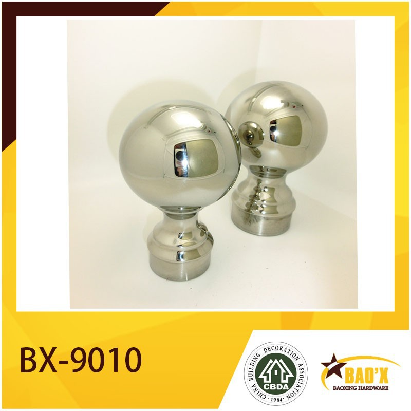 Stainless Steel Full Cast Handrail Ball with Base, Decorative Railing Ball.