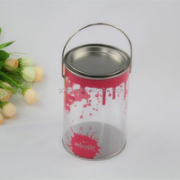 small round plastic clear containers with lids