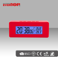 large LCD display weather station clock ET523C