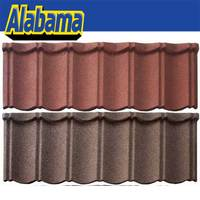 Zinc-aluminum coating and stone chip steel roofing panels, metal roof material, corrugated roofing materials