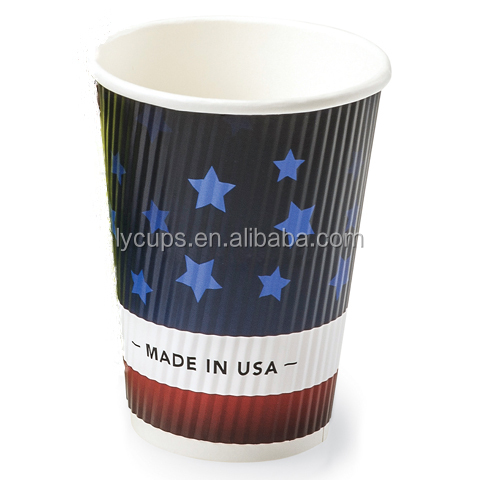 8oz vending machine striped coffee paper cups