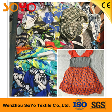 Smocked kids wholesale second hand clothes used clothing dealer wenzhou factory