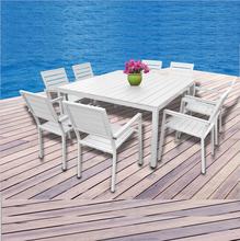 Angela 2017 High Quality Villa Polywood Dining Set teak wood dining table and chair,wood plastic composite Outdoor furniture