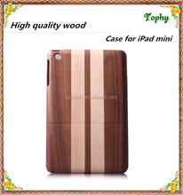Best quality customized detachable blank wood case for Apple IPad mini made in china