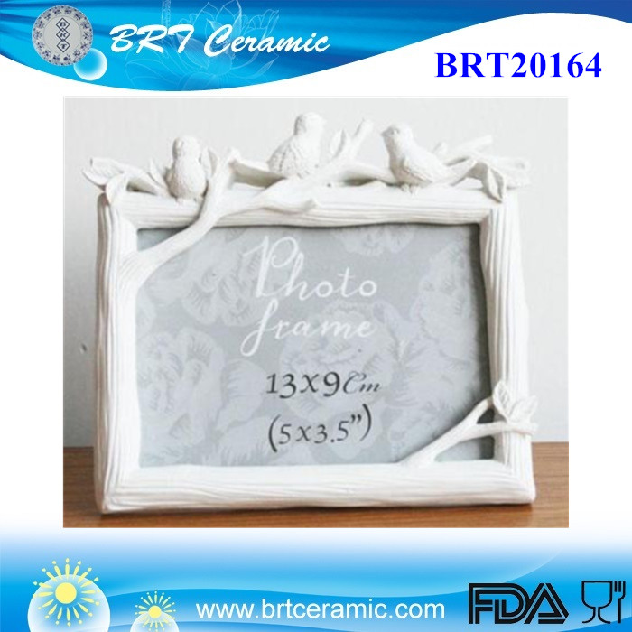 White Bird Tree Branch Home Decor Photo Frame Picture Frame Resin 3.5'' x 5''