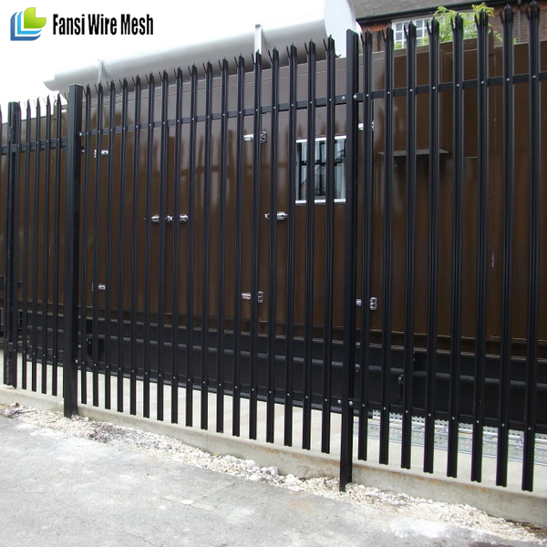 Low Price New Design PVC Palisade Fence / steel palisade fence / angle palisade fence for factory suplier