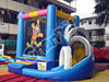 PVC Material Clown Inflatable Jumper Bouncer with Slide Combo for Children
