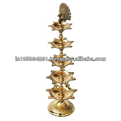 Peacock Design Diya