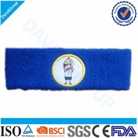 Promotional Gift Items Custom Cotton Sweat Headband