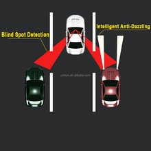 Utility & Long vehicle rear view mirror for cars with Blind Spot Monitoring Function