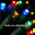 String Lights, 20 Polka Dot LEDs, Green Wire, Battery, MULTICOLOR