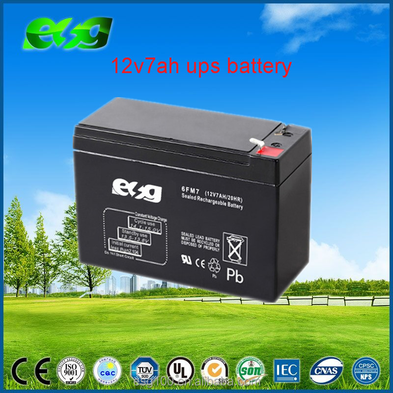 AGM Battery VRLA Sealed 12V 7AH Lead Acid UPS Battery