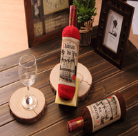 wine bottle towel cake