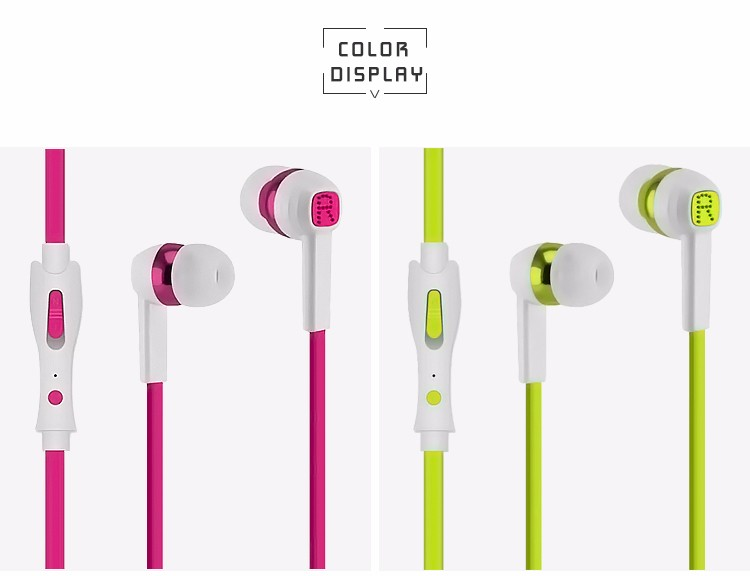 3.5 mm phone connector soft buds headphone with logo design service