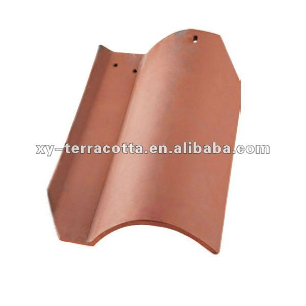 light red clay roof tile