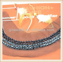 neck designs for tailors with beads on black net for ladies' design