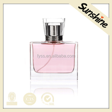 Best selling beauty design empty clear pink color glass bottle perfume